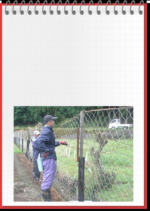 農村での獣害防止対策